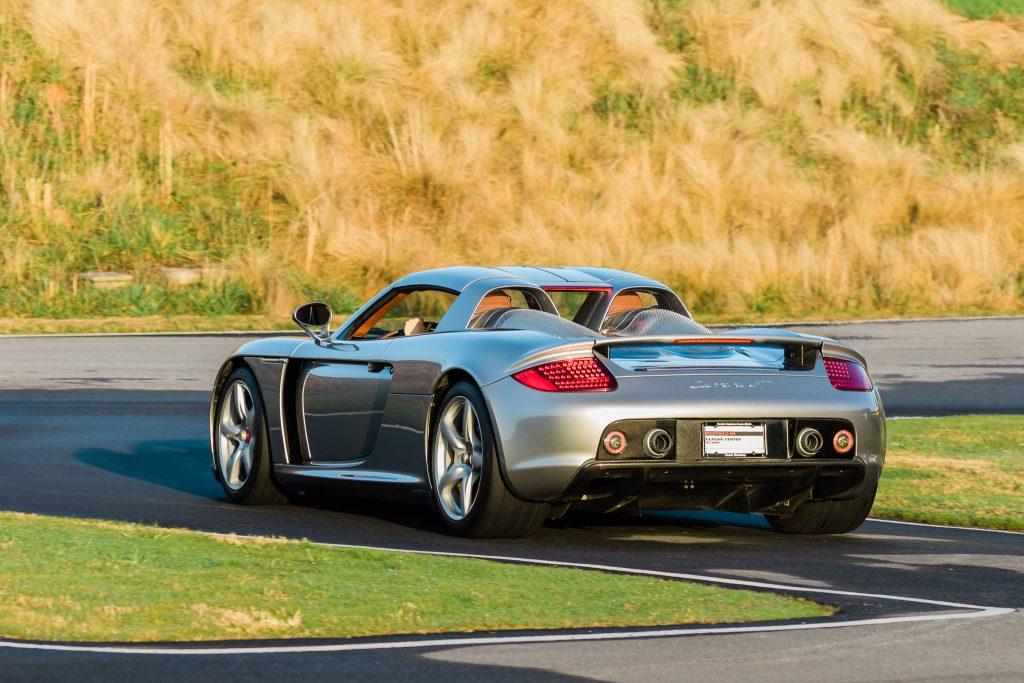Porsche Carrera GT rear three-quarter track