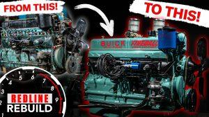 Greasy to gorgeous: Buick Straight 8 Fireball engine rebuild time-lapse | Redline Rebuild