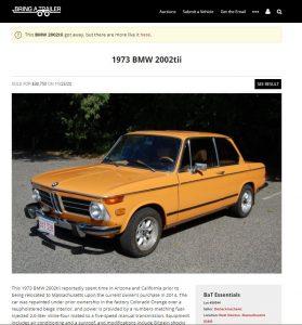 Rob Siegel - Bring A Trailer - Mike's car BaT screen capture