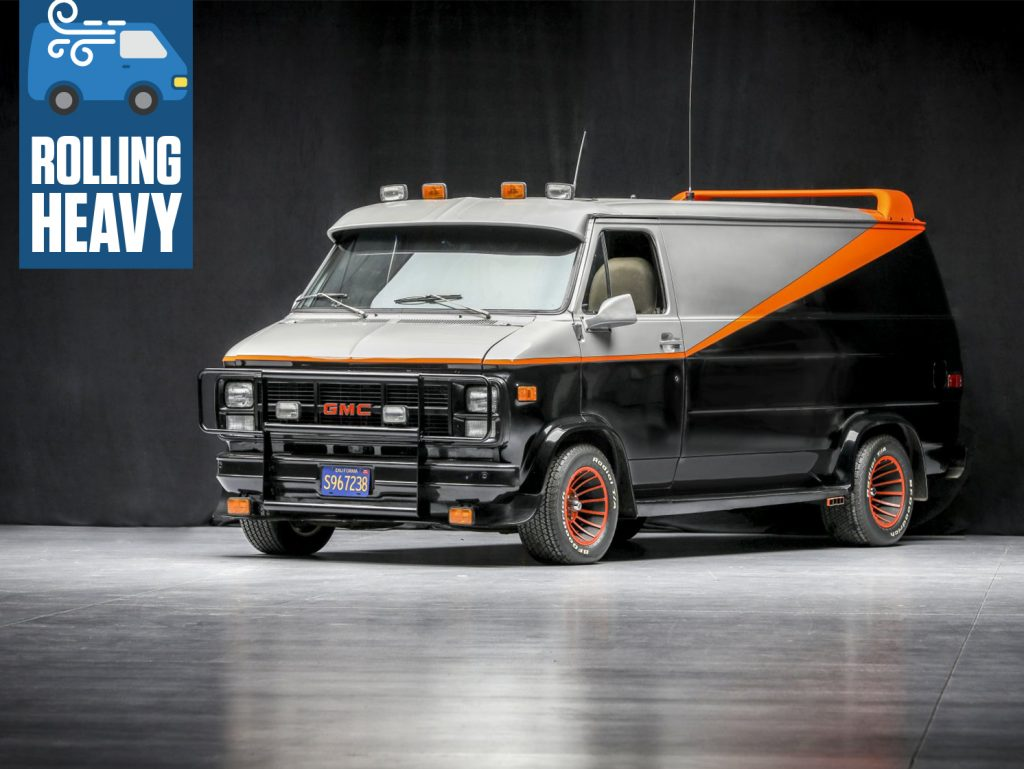 A-Team GMC G-Series 83 Van front three-quarter rolling heavy feature