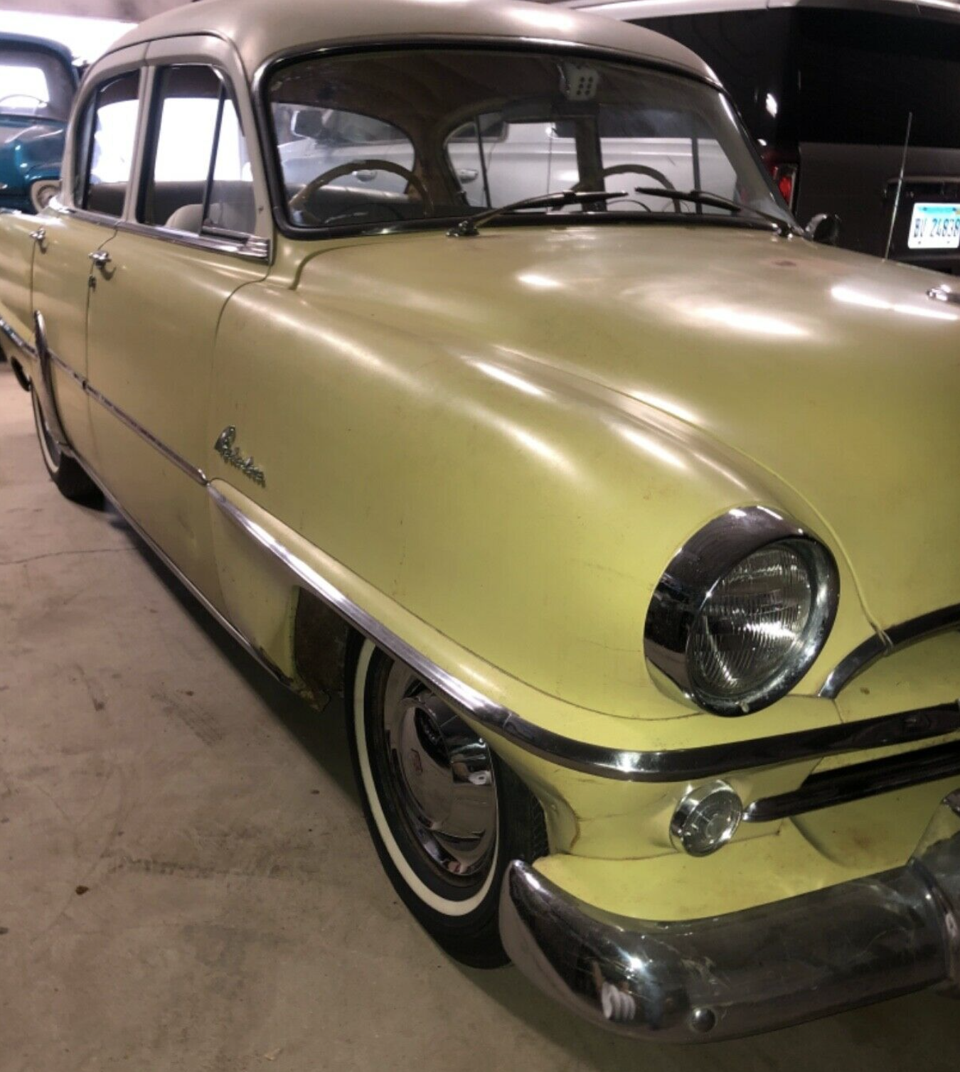 1954 Plymouth Belvedere drivers ed car front