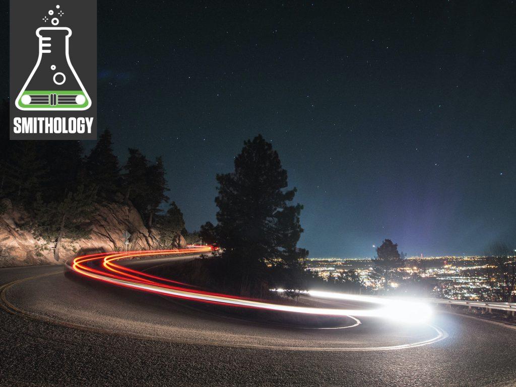 boulder colorado night car mountain switchback timelapse