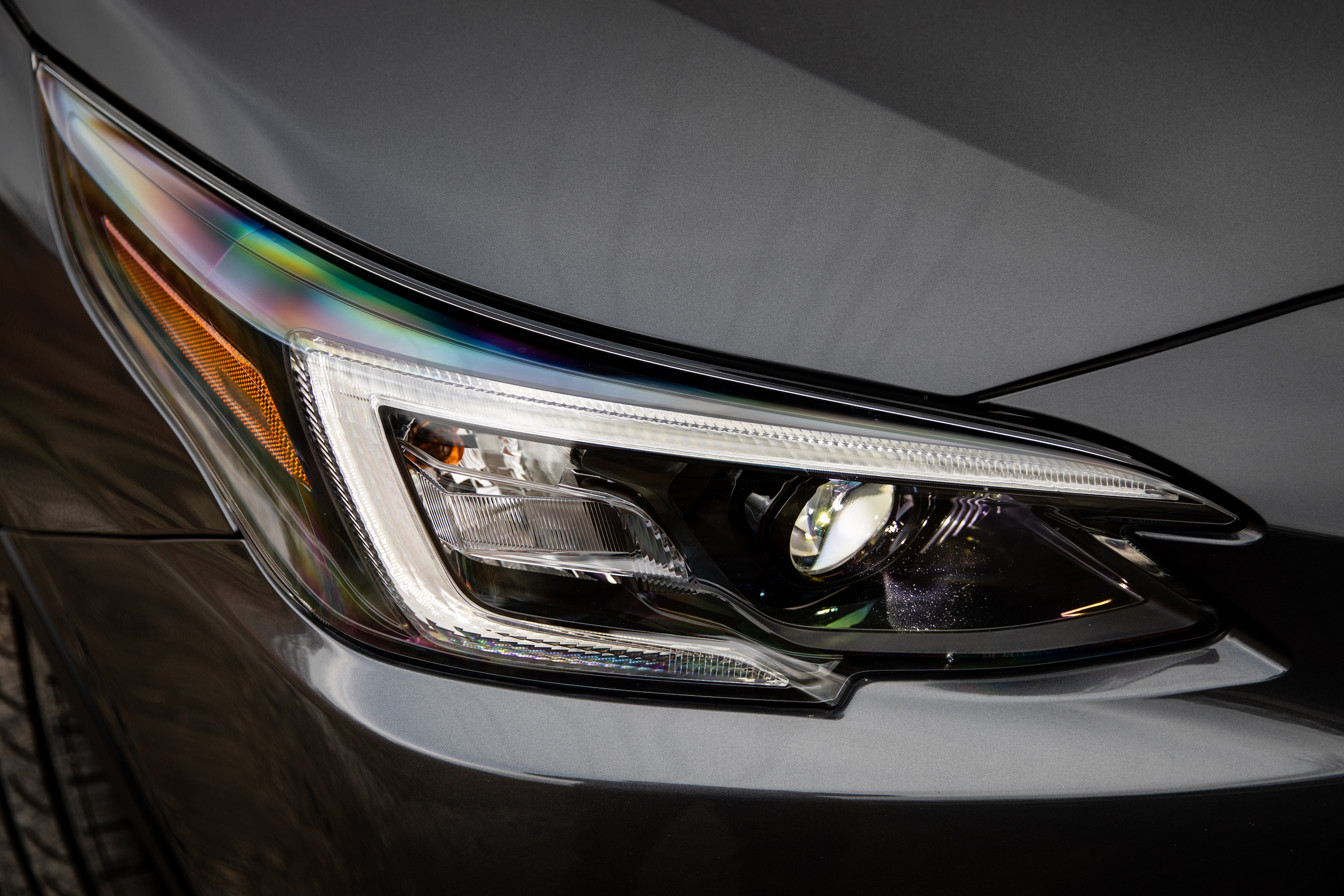 Subaru Outback front headlight detail