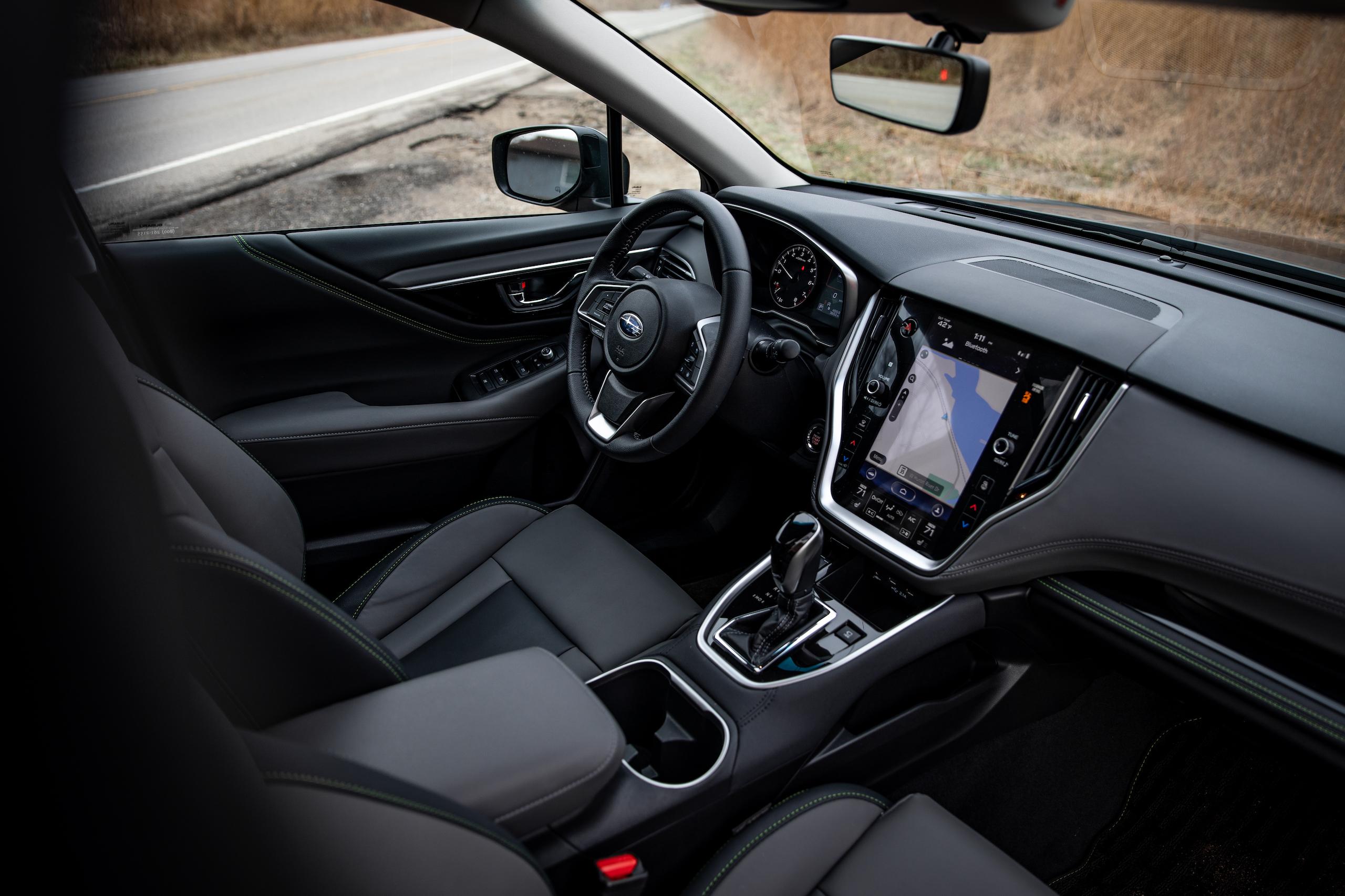 Subaru Outback interior front angle