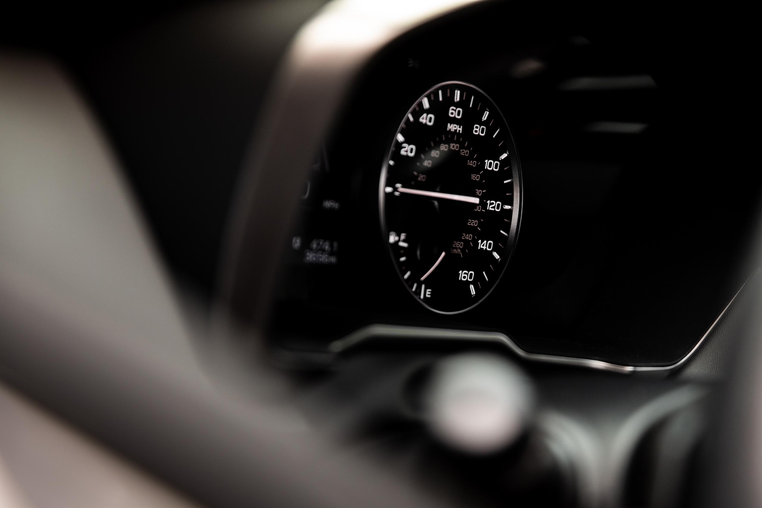 Subaru Outback speedometer gauge detail
