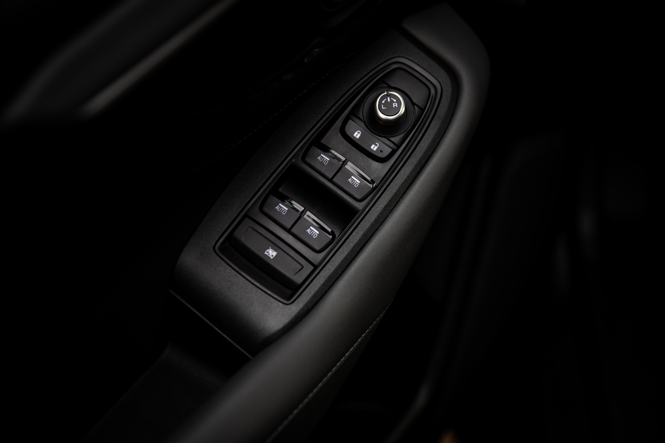 Subaru Outback door panel controls detail