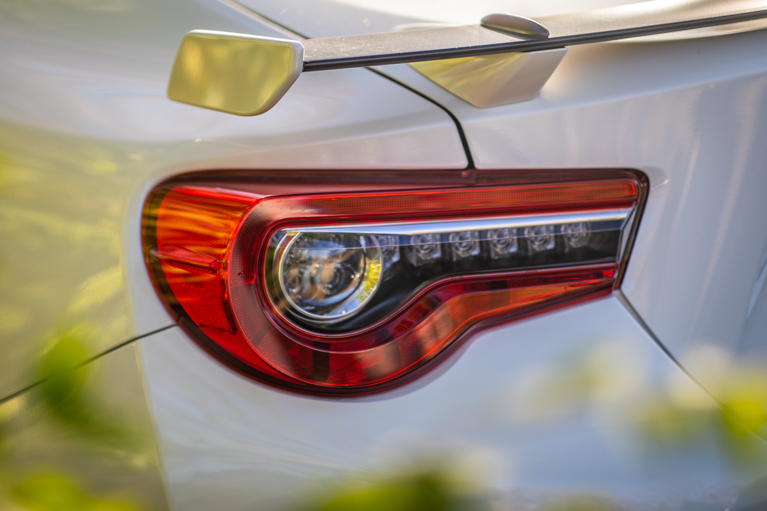 2020 Toyota 86 GT rear wing taillight detail