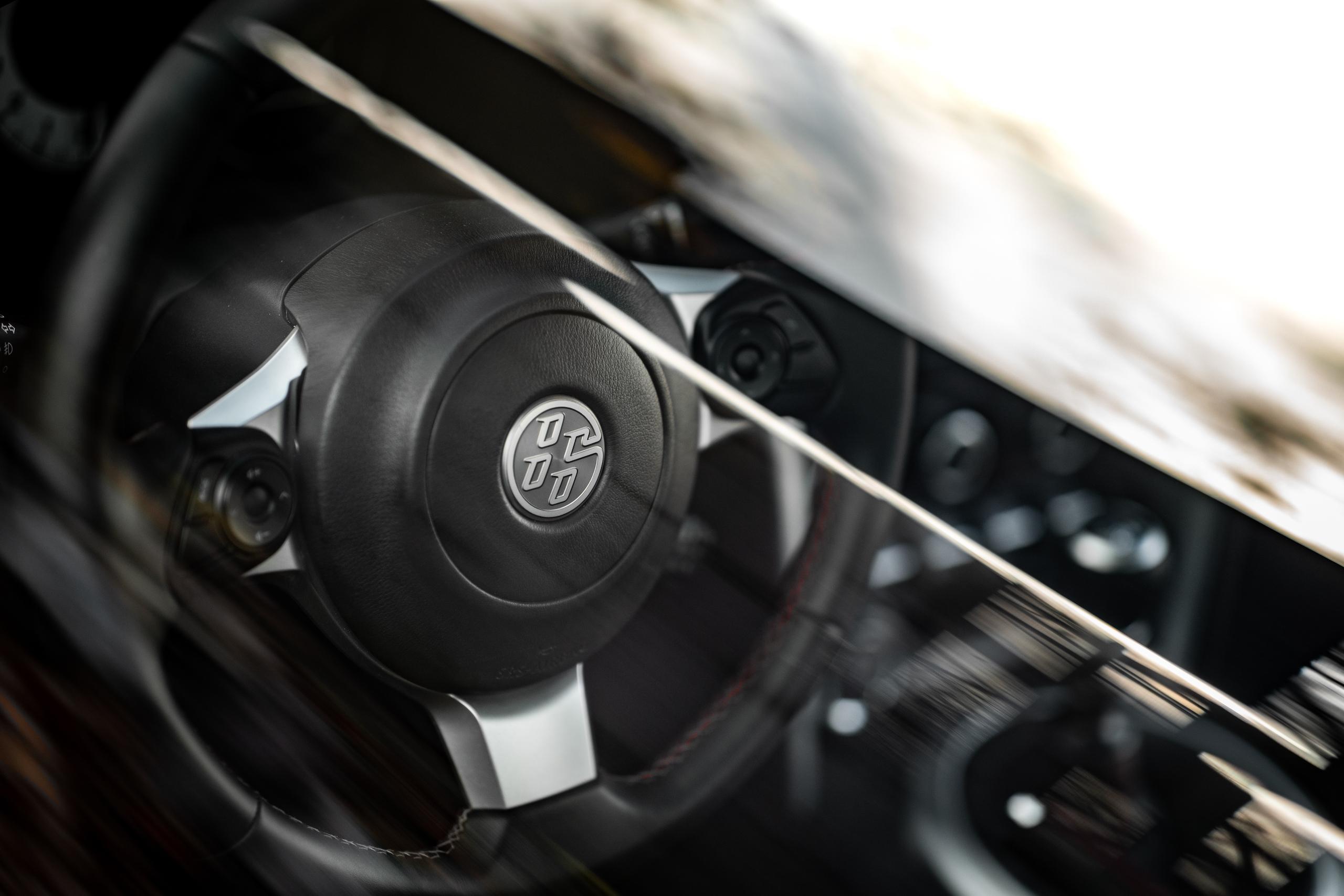 2020 Toyota 86 GT steering wheel detail through glass