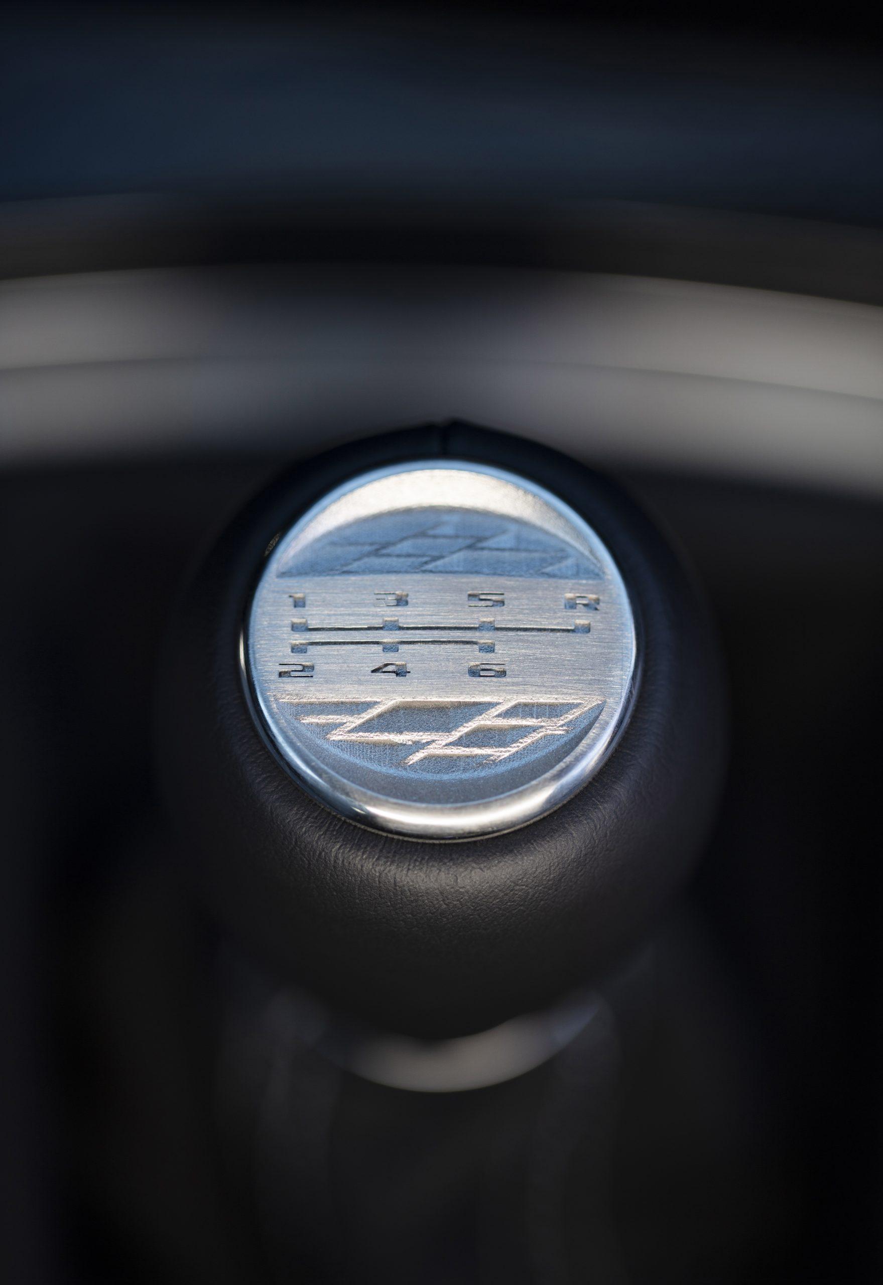 The V-Series Blackwing shift pattern medallion