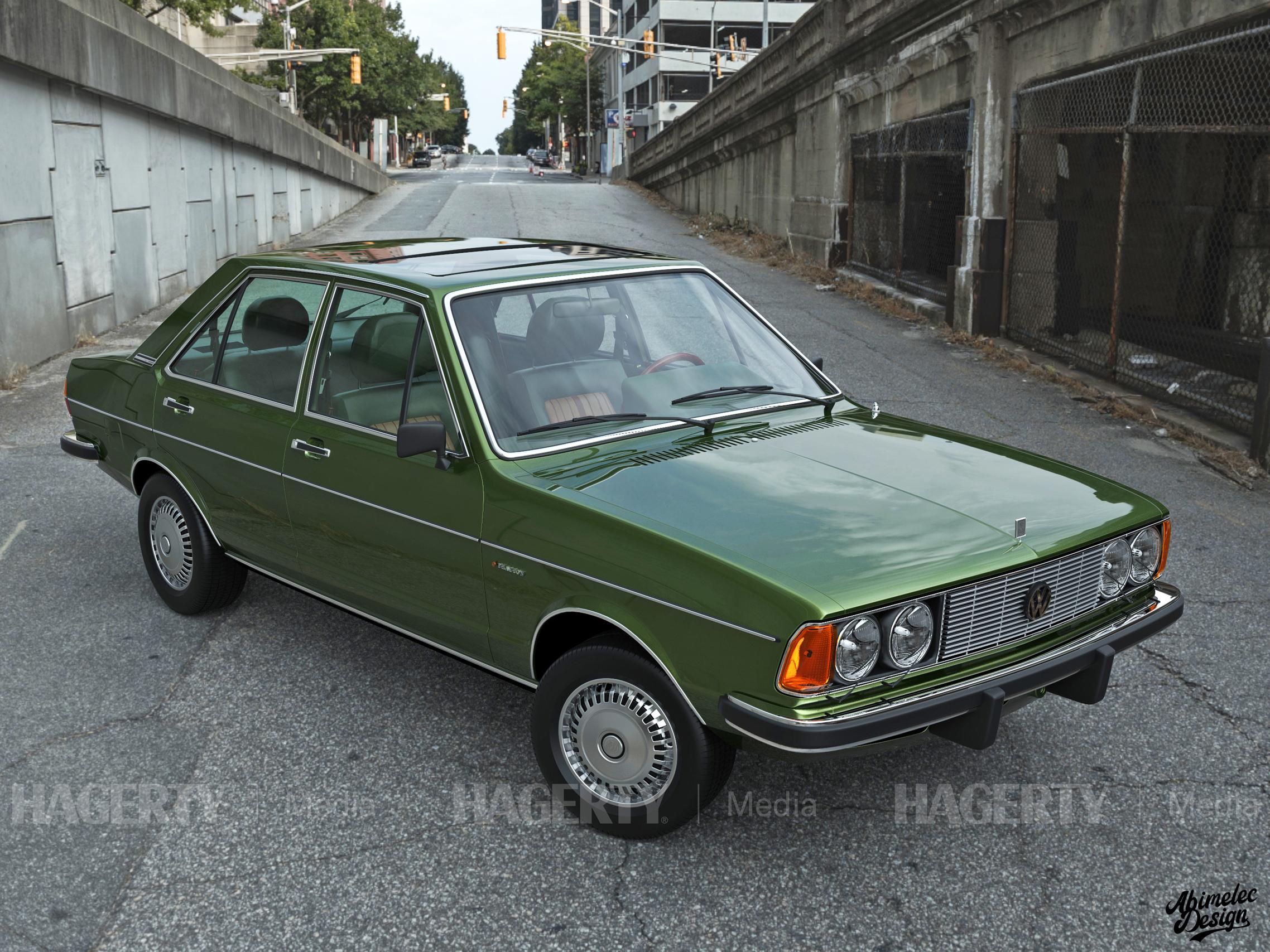 What If VW Phaeton green front three-quarter