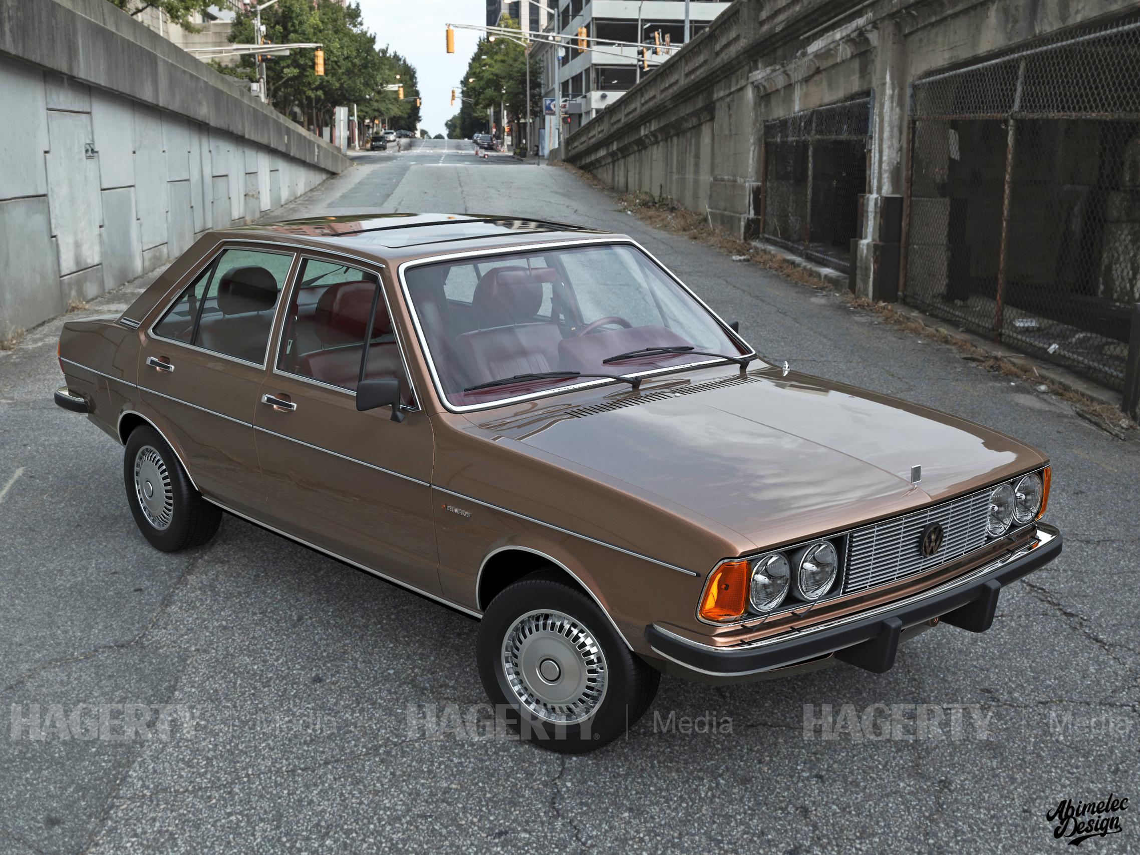 What If VW Phaeton bronze front three-quarter