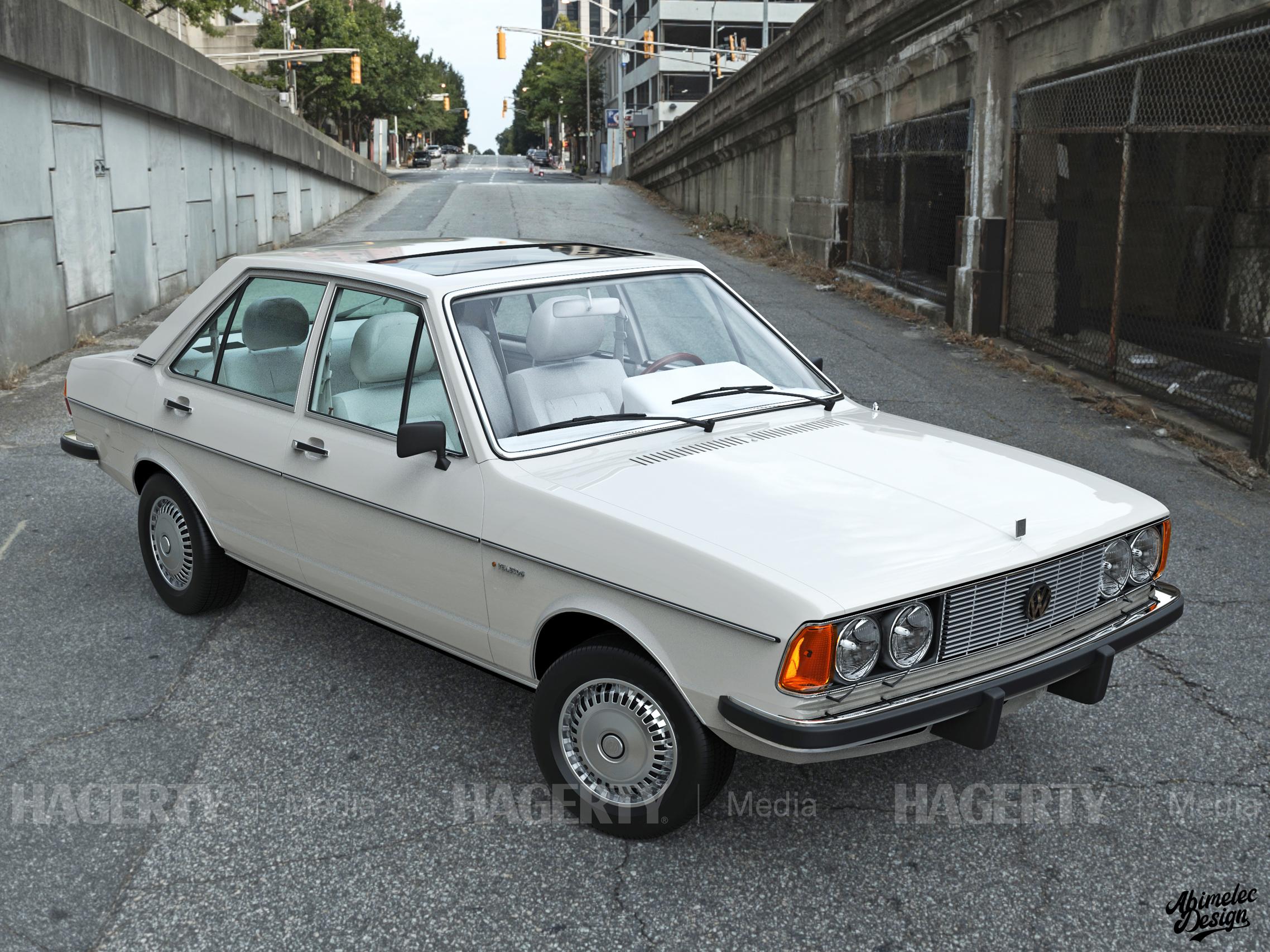 What If VW Phaeton white front three-quarter