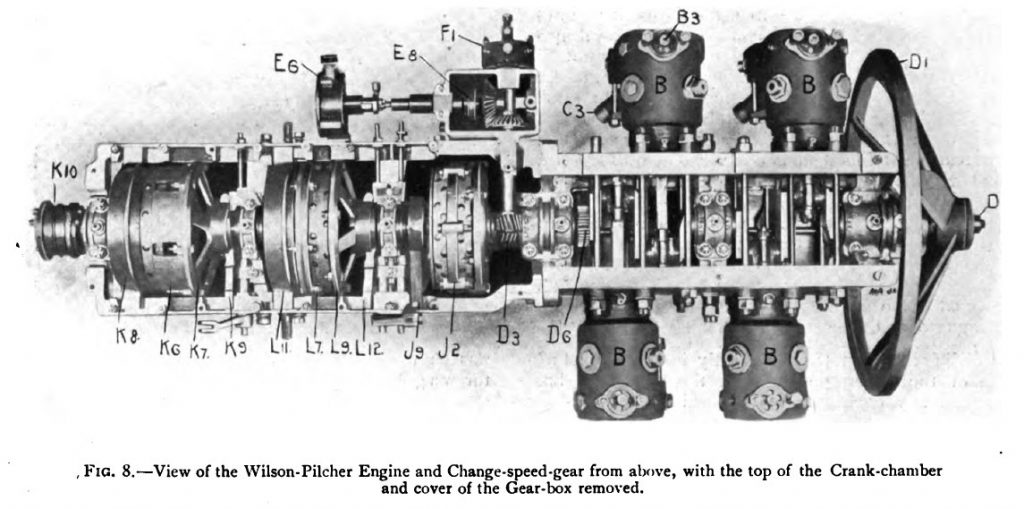 Wilson Gearbox from Wilson-Pilcher automobile clutchless