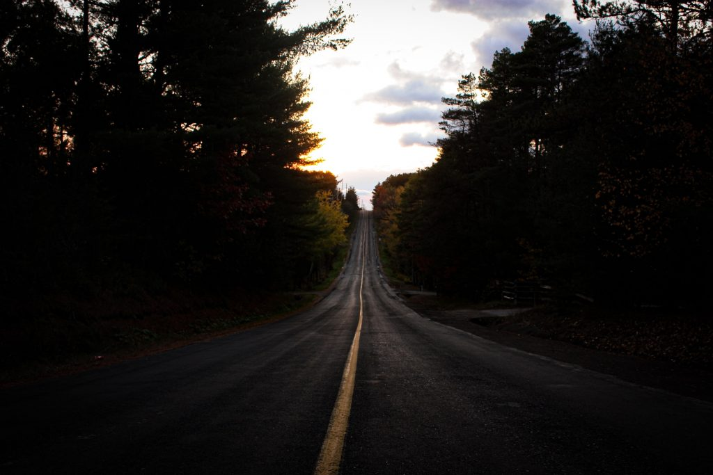 ontario back road highway two lane