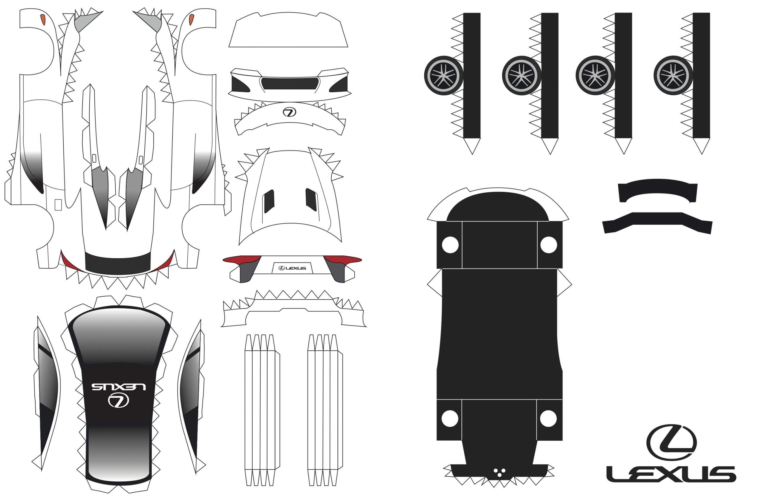 Lexus lfa-papercraft-white