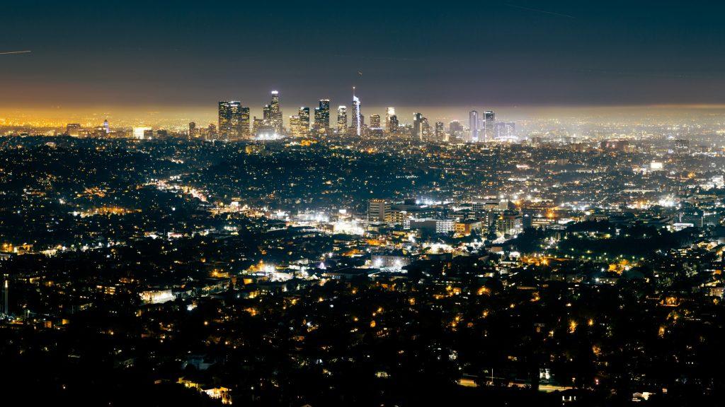 los angeles LA city skyline