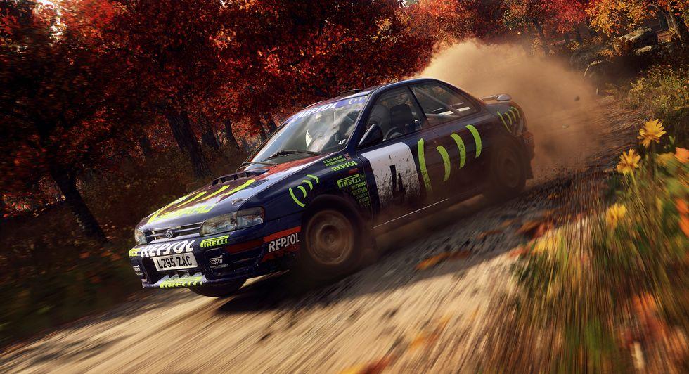 forza subaru rally racing simulation front three-quarter game action
