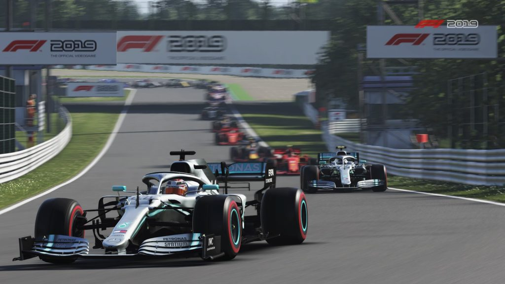 F1 Formula One 2019 racing game action graphics