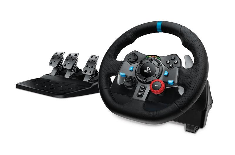 playstation car racing simulation controller wheel pedals