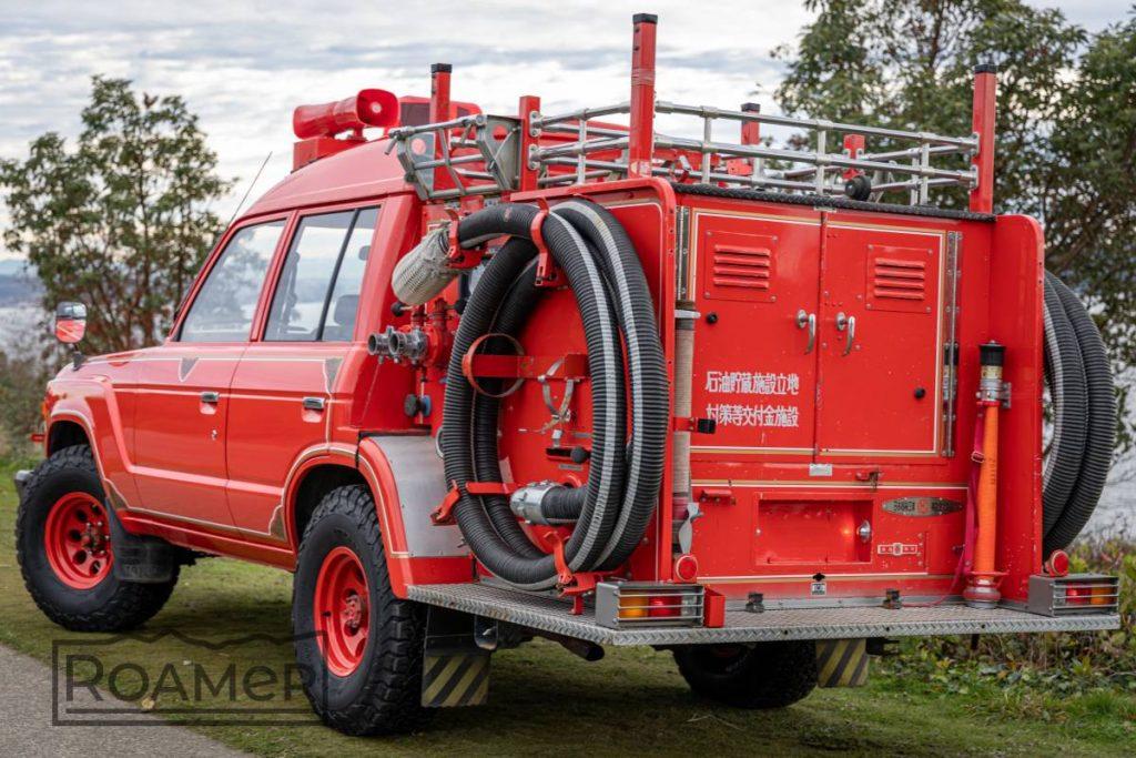 Toyota Land Cruiser FJ62 fire truck rear