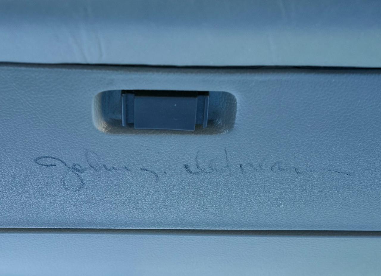 1981 DeLorean DMC-12 Johnny Carson autograph signature glovebox