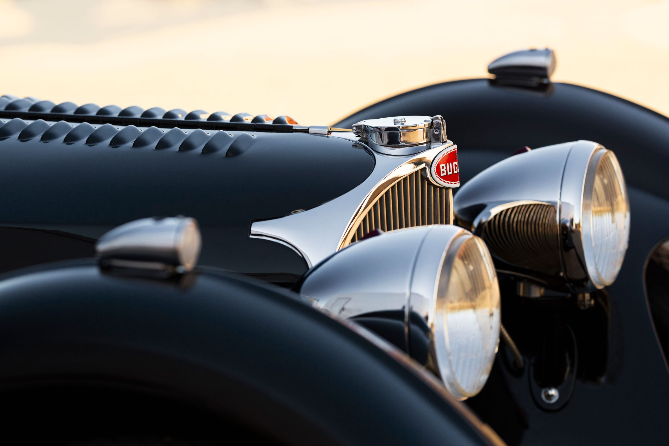 Bugatti Type 57SC Tourer front details
