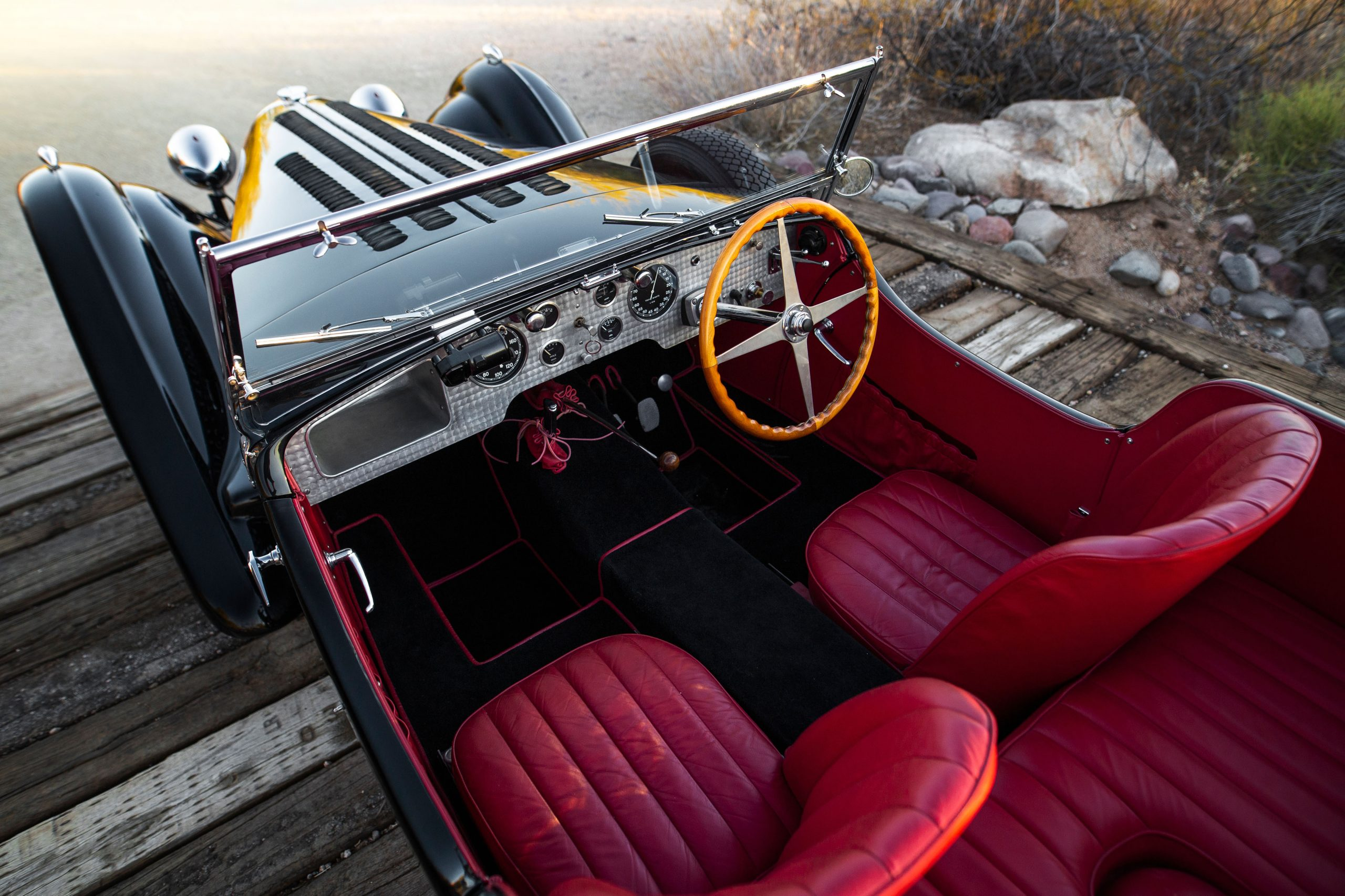 Bugatti Type 57SC interior