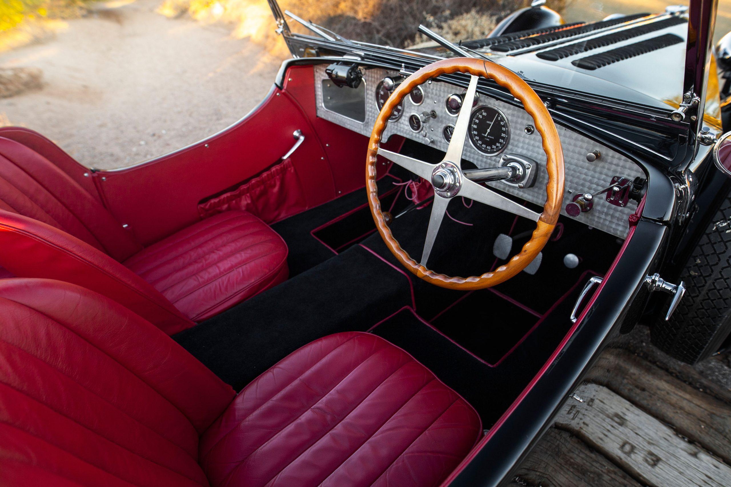Bugatti Type 57SC Tourer interior