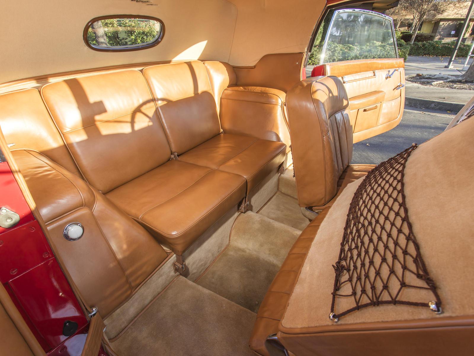 Mercedes-Benz 540K Special Cabriolet interior rear sofa seat