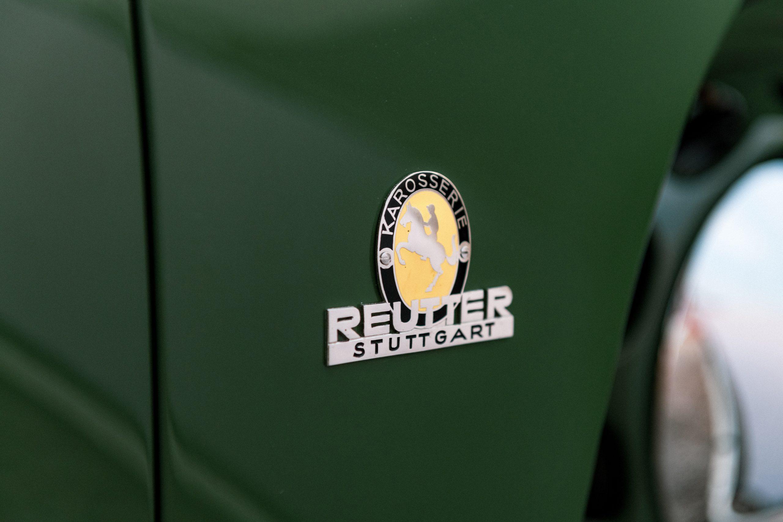 Porsche 356 Coupe Reutter badge