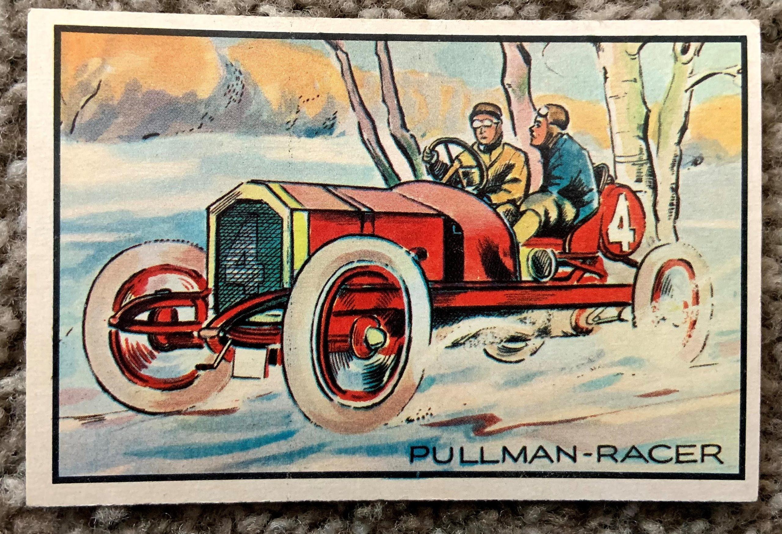 1953 Bowman Antique Autos - No. 3 Pullman Racer front