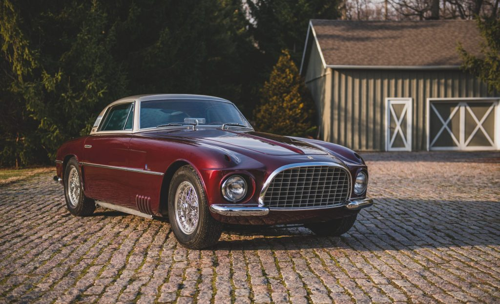 Ferrari 375 America Coupe Vignale front three-quarter