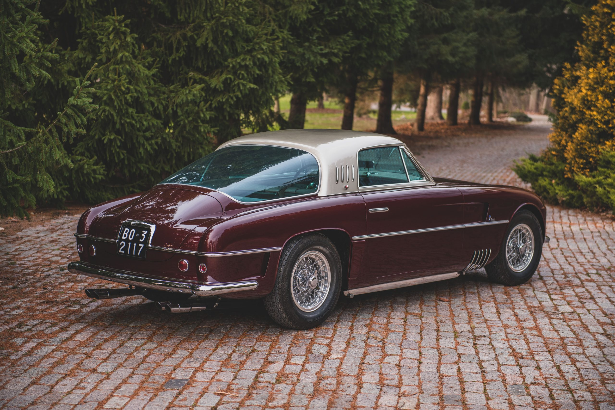Ferrari 375 America Coupe Vignale rear three-quarter