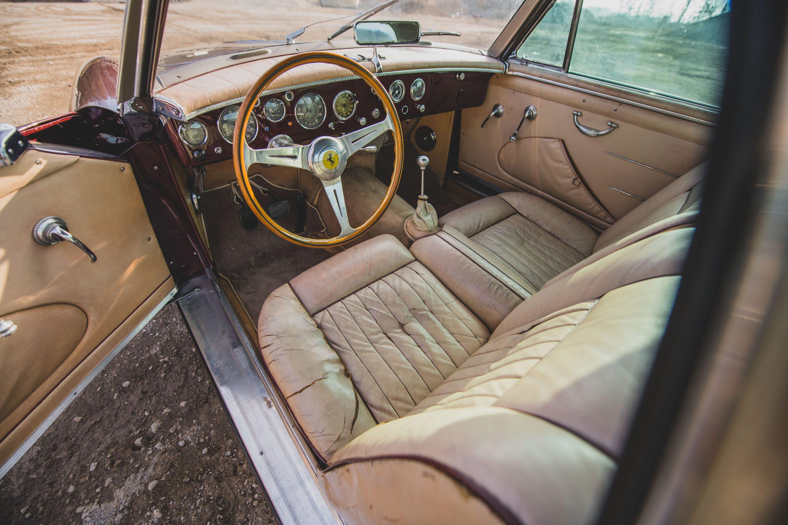 Ferrari 375 America Coupe Vignale interior