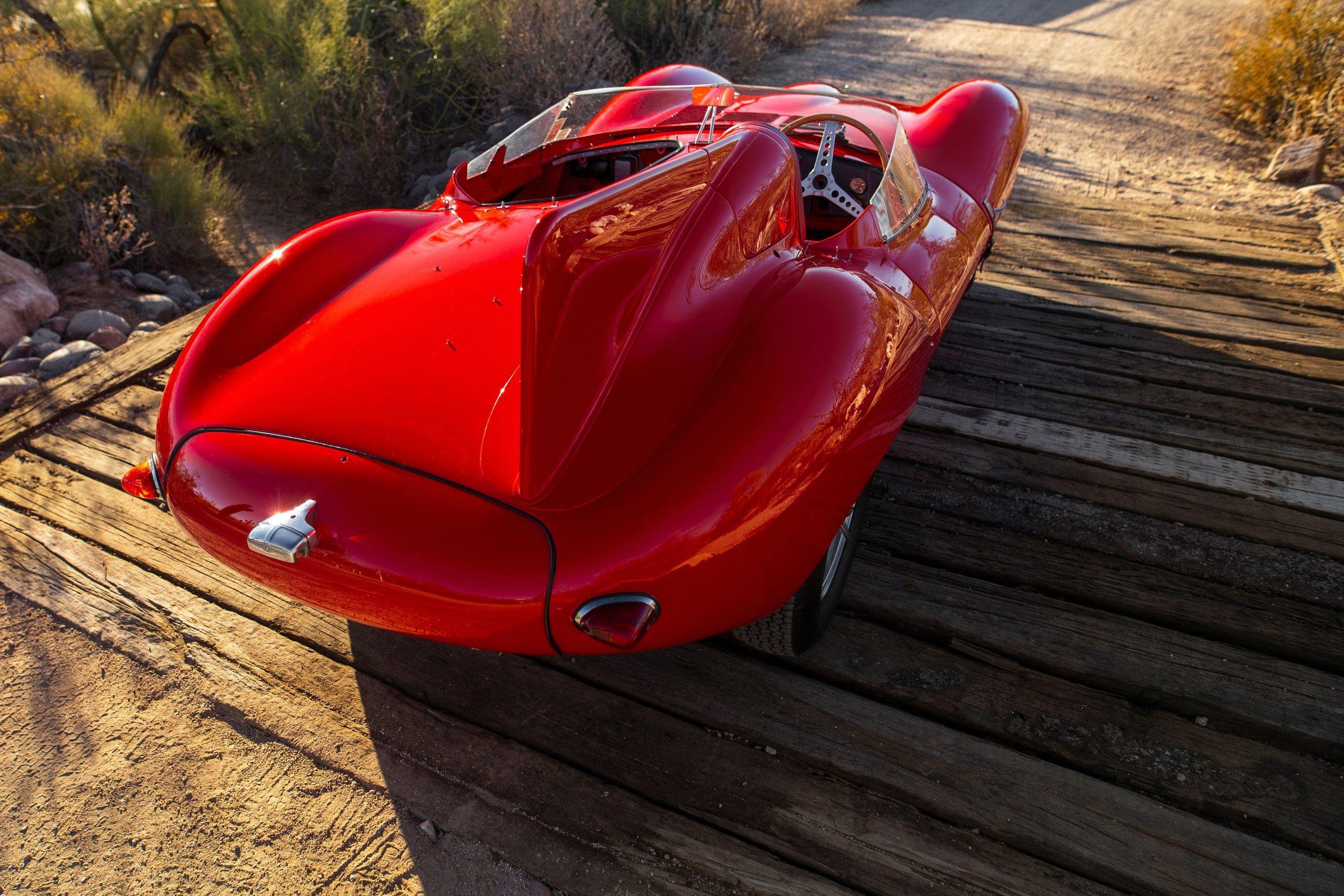 1955 Jaguar D-Type rear three-quarter