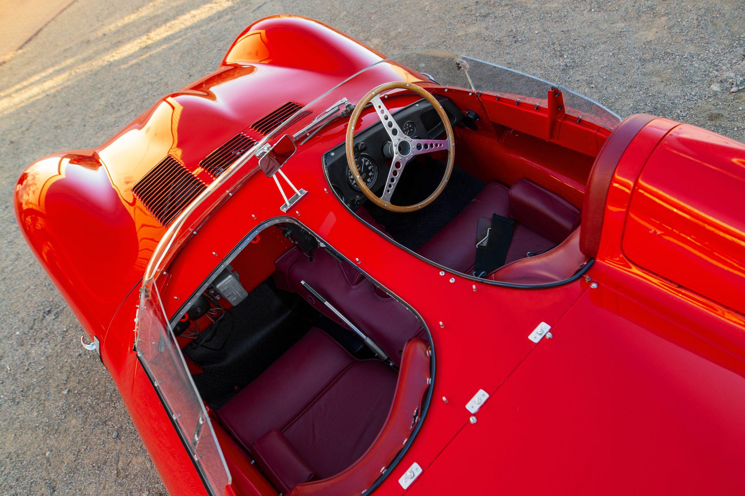 1955 Jaguar D-Type overhead interior