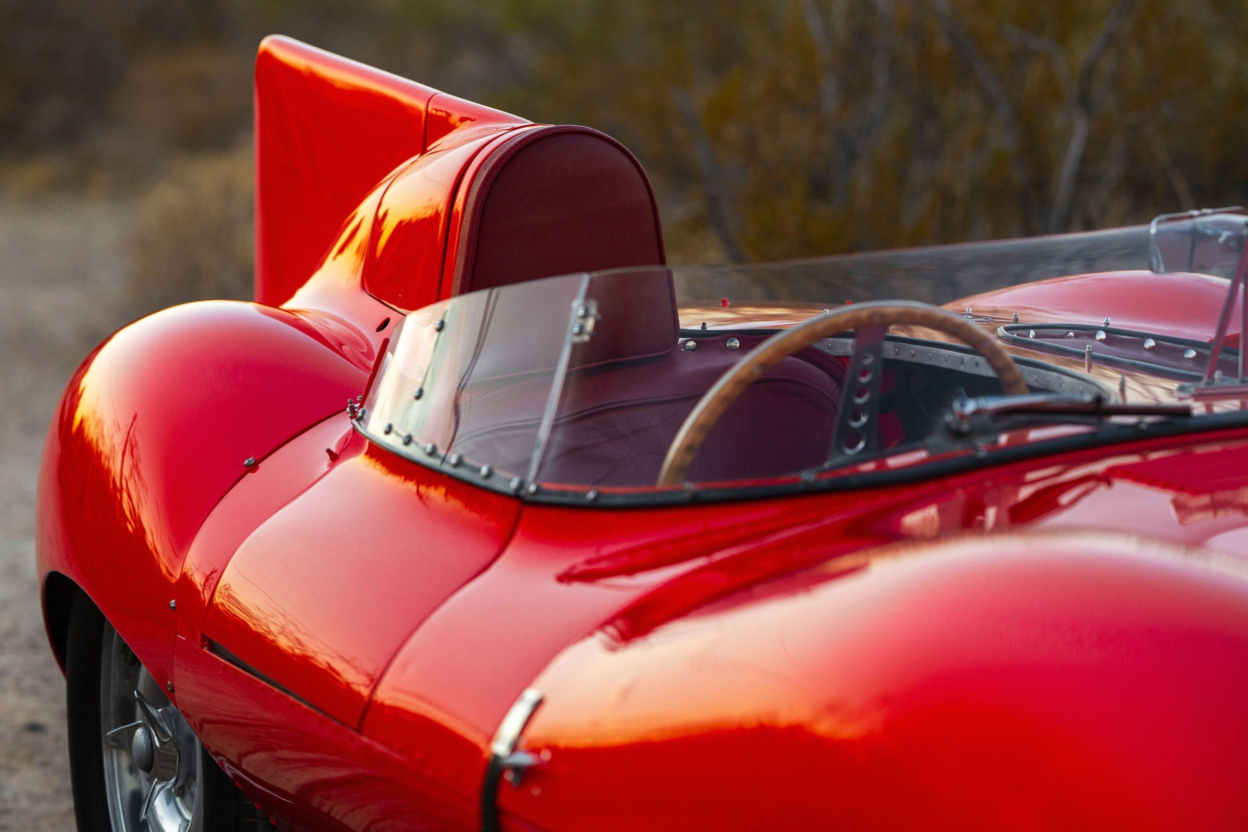 1955 Jaguar D-Type fin design