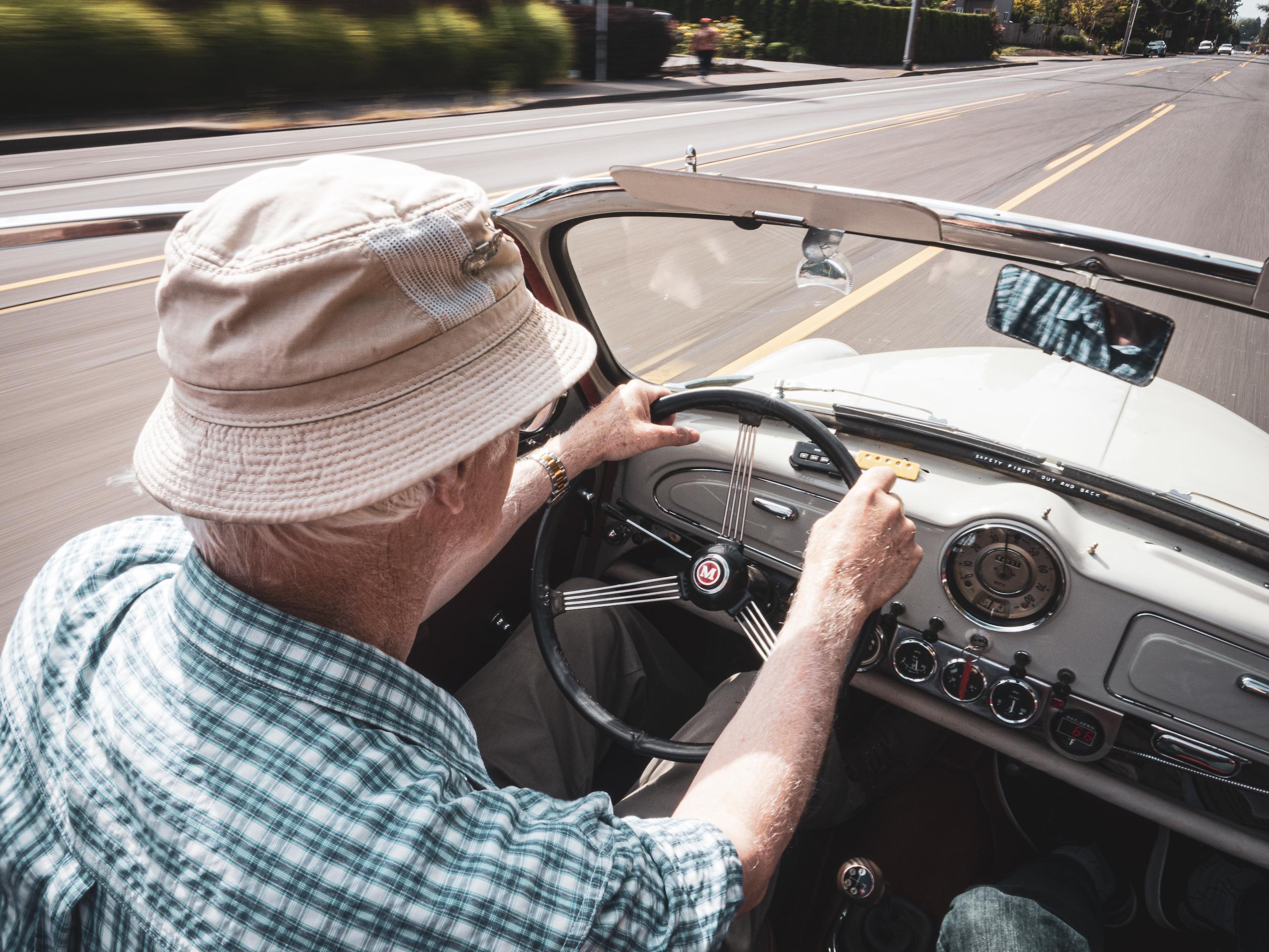 Morris Minor interior driver