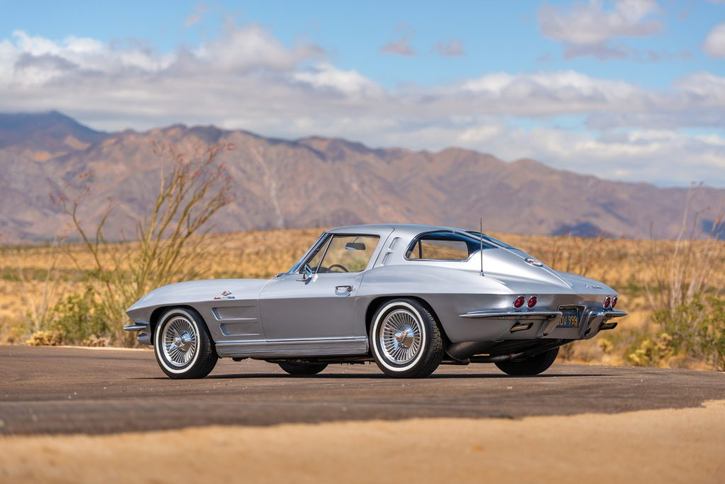1963 Chevrolet Corvette Sting Ray rear three-quarter