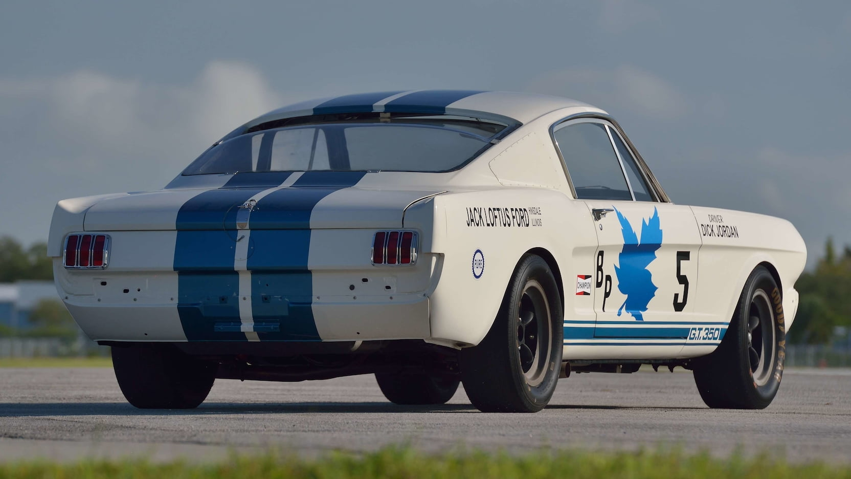 1965 Shelby GT350R Fastback rear three-quarter