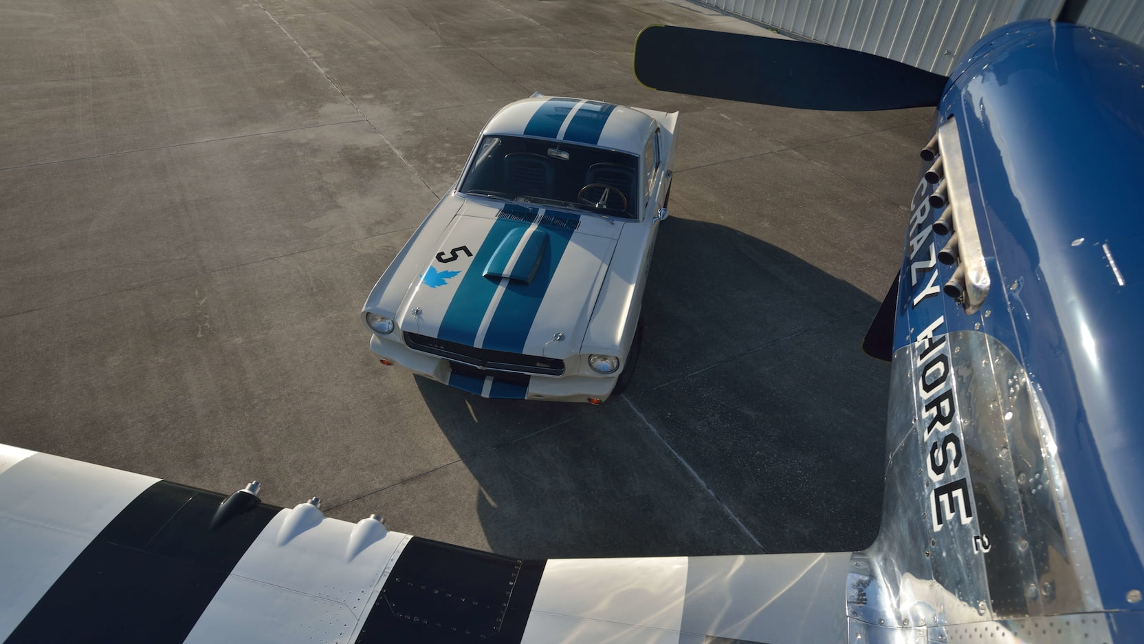 Shelby GT350R Fastback overhead plane