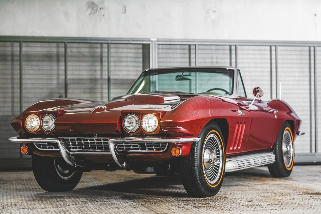 1966 Chevrolet Corvette Sting Ray front three-quarter