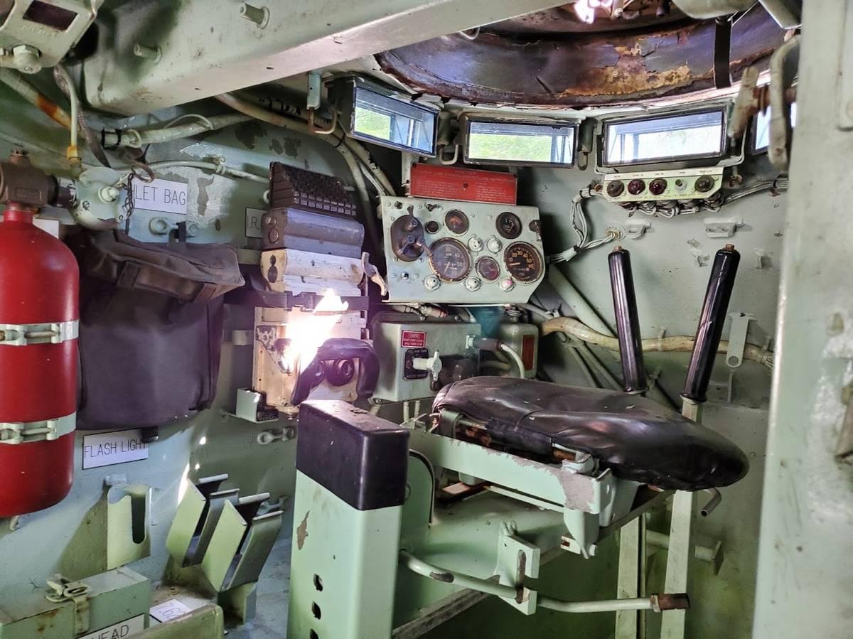 1966 XM734 APC interior cockpit