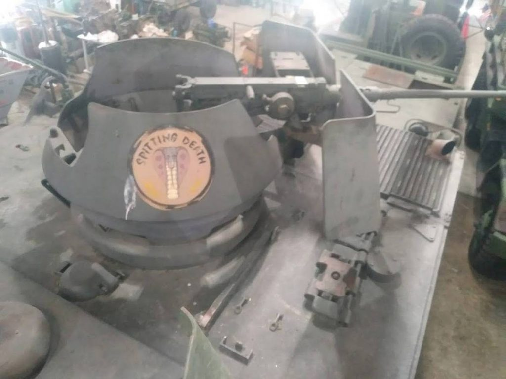 1966 XM734 APC 50 caliber gun turret mount spitting death