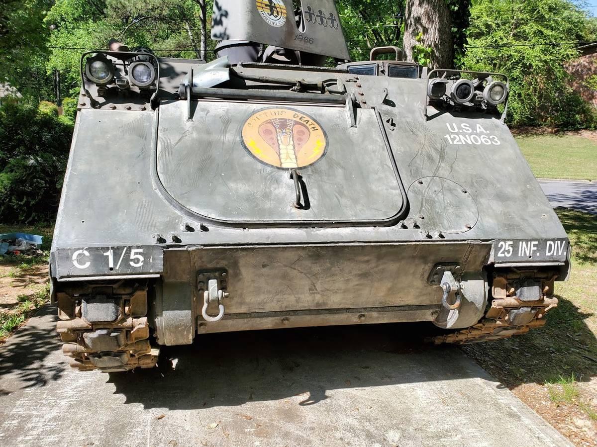 1966 XM734 APC front spitting death painted graphic moniker