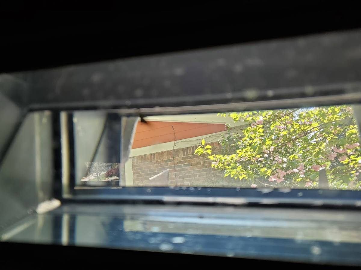 1966 XM734 APC interior port window view
