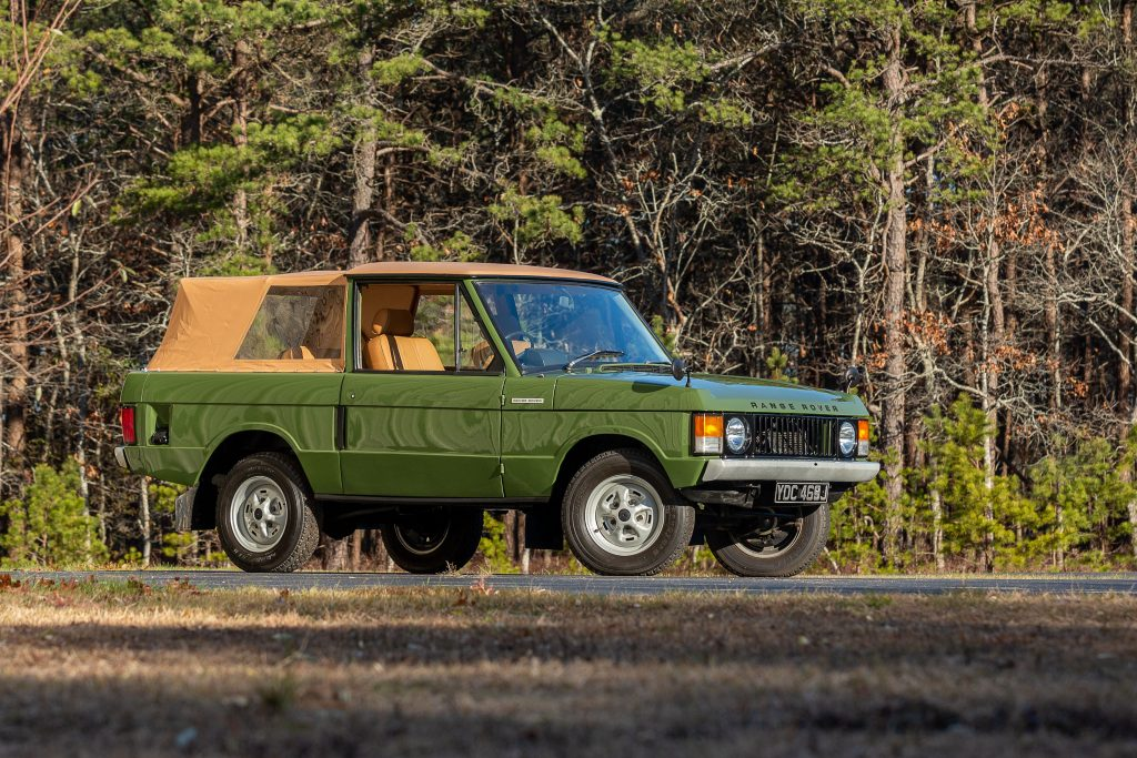Range Rover Suffix A Convertible front three-quarter woods