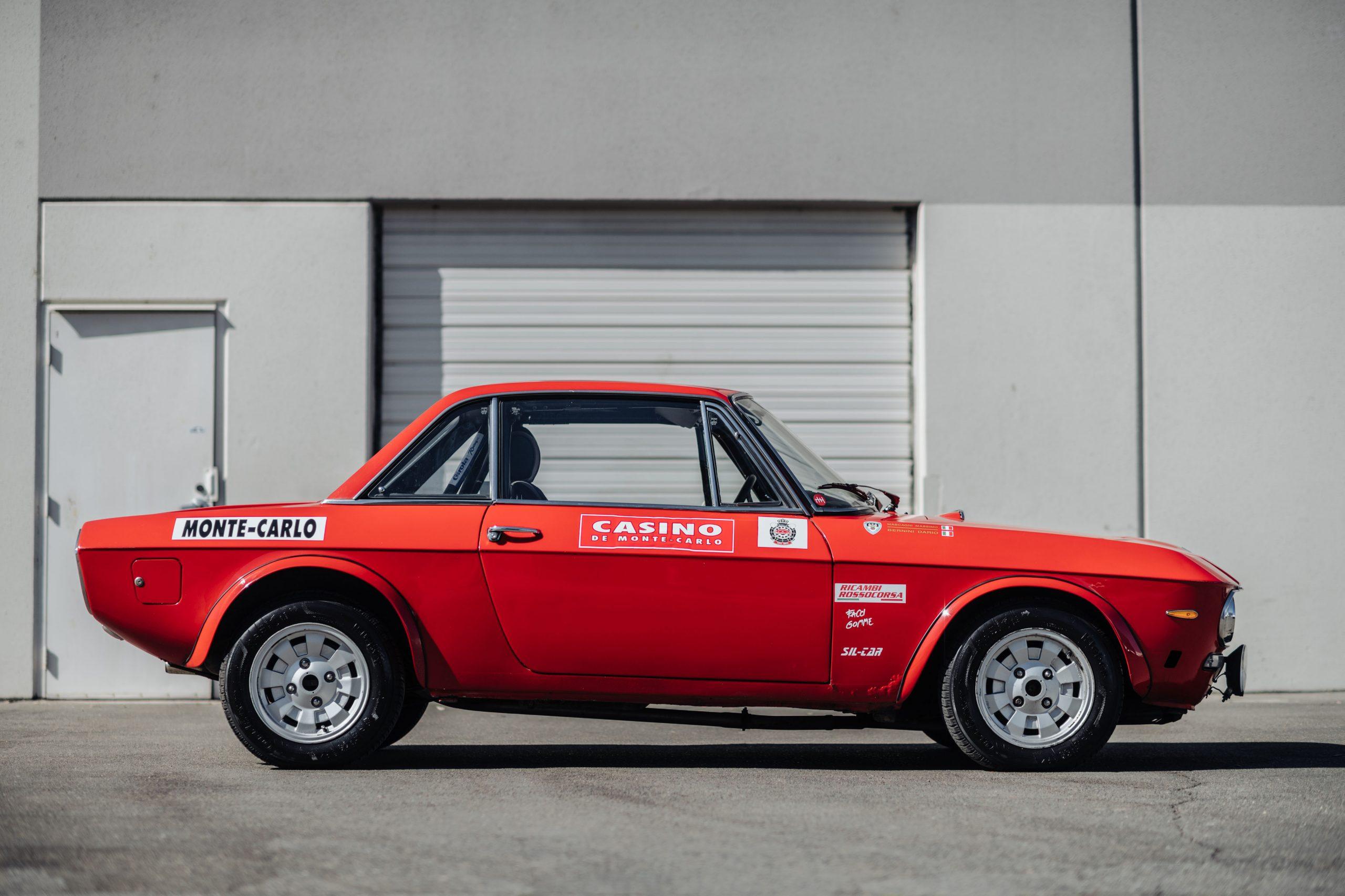 1972 Lancia Fulvia Coupe 1600 HF Series 2 Fanalino side profile