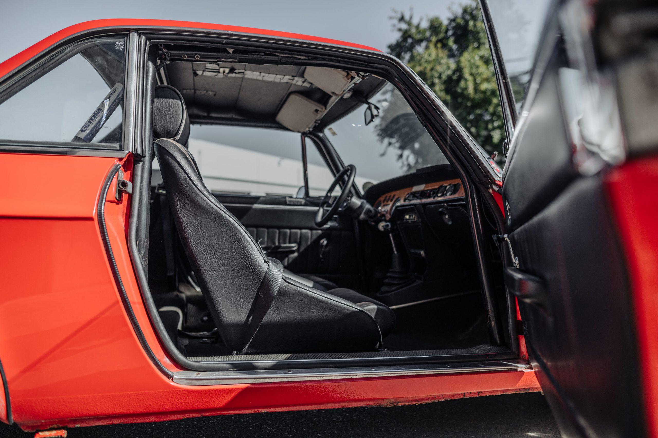 1972 Lancia Fulvia Coupe 1600 HF Series 2 Fanalino door open interior