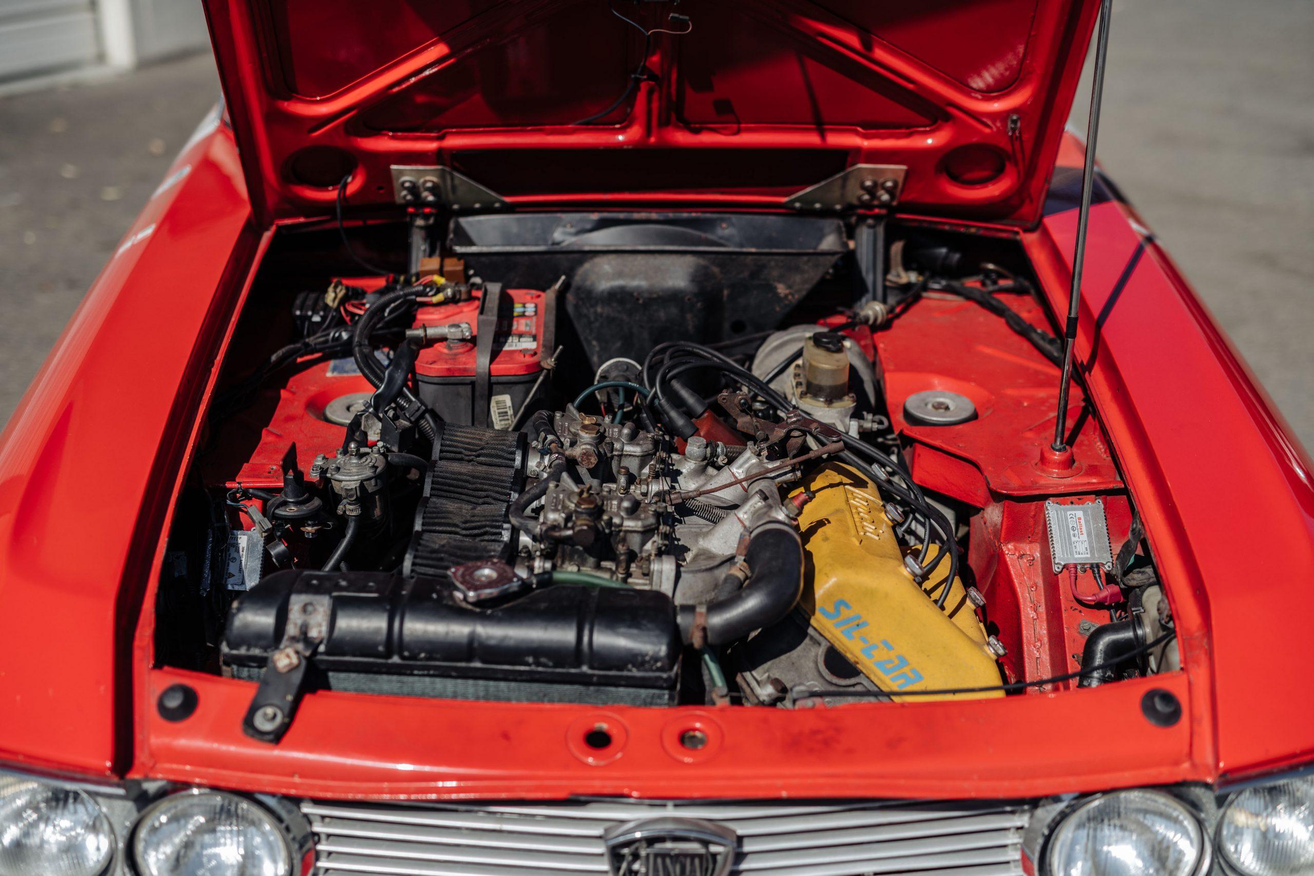 1972 Lancia Fulvia Coupe 1600 HF Series 2 Fanalino engine bay